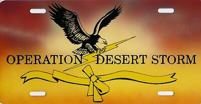 """Operation Desert Storm Eagle Official Military Logo License Plate 12""""x6"""" Car Tag"""