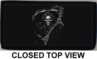 Grim Reaper Mythical Scythe Death Checkbook Cover Credit Card ID Holder NEW