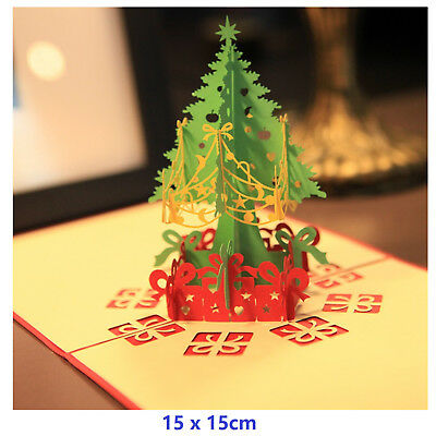 3d Pop Up Christmas Cards Creative Origami Greeting Card Papercraft Gift