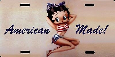 """Betty Boop American Made Color Photo License Plate 12""""x6"""" QUALITY ALUMINUM"""