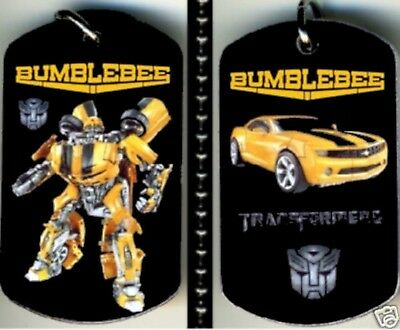 """Bumblebee Transformers Color Photo Aluminum Dog Tag Necklace w/30"""" Ballchain NEW"""