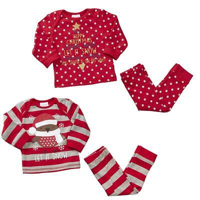 Baby Toddler Jingle Bells Let it Snow Robin Xmas Novelty Pyjamas 6 to 9 Months