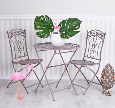 Nostalgia Garden Furniture Antique Iron Set Table and Chairs Country House Style