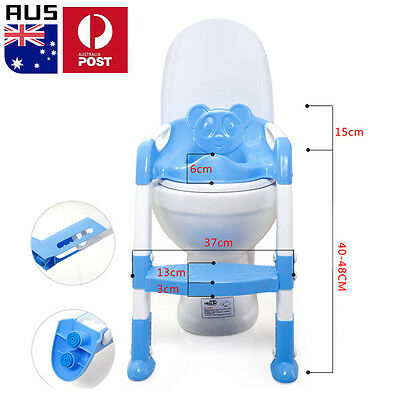 2017 Kids Baby Toddler Safety Toilet Ladder Seat Chair Step Stool Potty Trainer