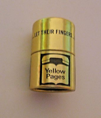 Scarce Vintage Yellow Pages Telephone Advertising Matchbook Match Can Container
