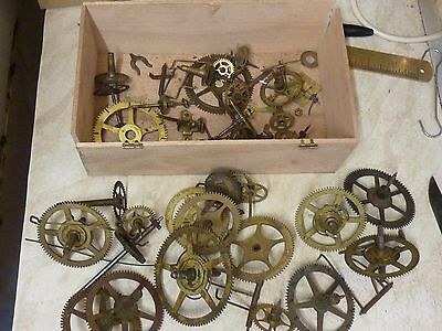 Useful Lot American Clock Wheels Etc - Spares-Parts