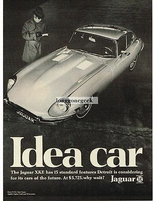 1969 Jaguar XKE Hardtop Idea Car Spy Print Ad