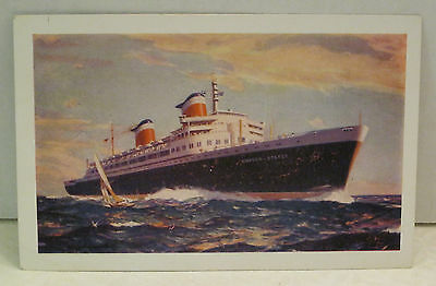 ss United States Passenger Ship United States Line 53,330 tons 1952 Postcard