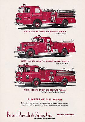 Pirsch Builds Pumpers Of Distinction  3 Different  Ad             6856
