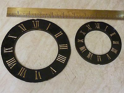 2 Antique French Clock Slate Chapter Rings