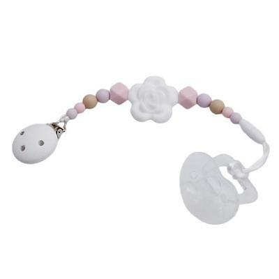 Baby Silicone Teething Pacifier Clip Beads Infant Soother Nipple Strap Chain - S