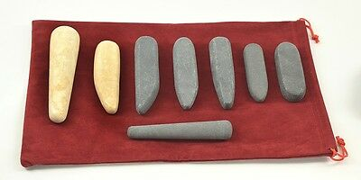 MassageMaster HOT STONE MASSAGE: 8 Hot & Cold Trigger Point Stones & Wands Set