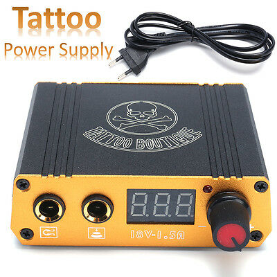 Mini Portable Digital Machine Tattoo Power Supply 18V/1.5A for Foot Pedal Switch