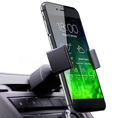 360° Universal 2in1 Car CD Slot Holder Air Vent Stand Mount For Cell Phone GPS