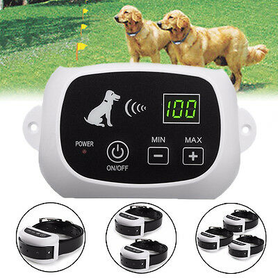 Wireless 1/2/3 Dog Fence No-Wire Waterproof Pet Containment System Recharge New