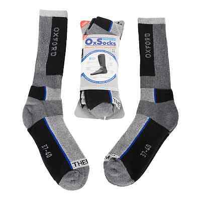 New Oxford Motorcycle Bike Knee High Shin Padding Socks Twin Pack Size S/ L