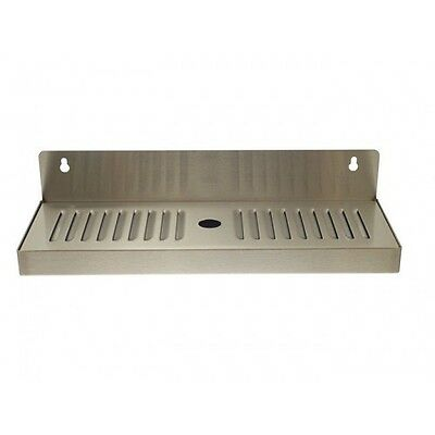 "4"" X 13"" Stainless Steel Wall Mount Draft Beer Drip Tray - Removable"