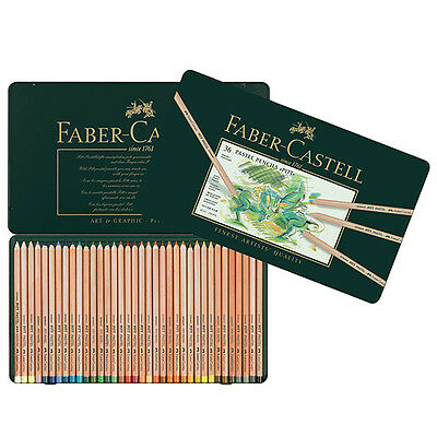 Faber-Castell - Pitt Pastel Colour Pencils - Tin of 36