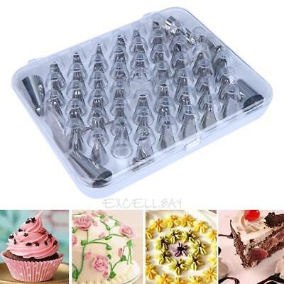 52Pcs Nozzles Cake Cookies Kit Set Stainless Steel Cake Decorating Pastry Tool