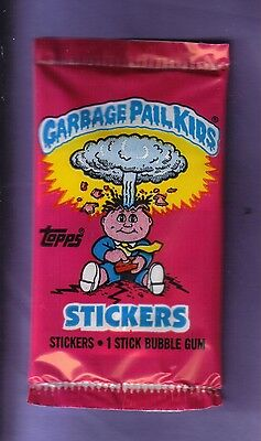 1985 Garbage Pail Kids Series 1 UK Unopened Sticker Pack from Box