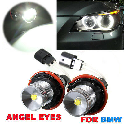 2x 5W BOMBILLAS Ojos de Ángel luz MARKER LED Error Free for BMW E39 E60 E63 E65
