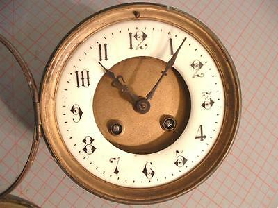 antique french clock movement striker, brocot,  Face, dial , door frame, hands