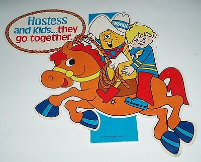 1970's Hostess Twinkies Store Sign w/ Twinkie the Kid - snack cake kids food