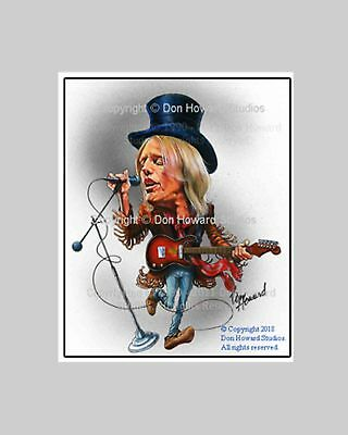 Don Howard's Depiction of Tom Petty Celebrity Caricature