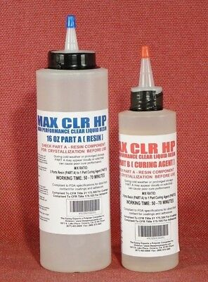 Max Clr Hp Epoxy Resin Crystal Clear For Coating Casting Doming Use Food Safe