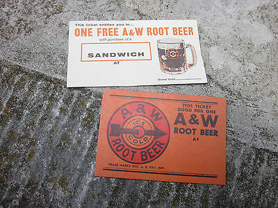 Vintage 1950s A&W Root Beer Good For Coupon Cards Mug Stand Santa Monica