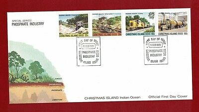 1981 Christmas Island Phosphate Industry Set no. 3 SG 136/9 FDC