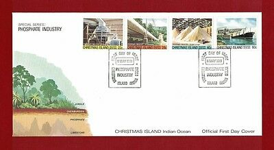 1981 Christmas Island Phosphate Industry Set no. 4 SG 140/3 FDC