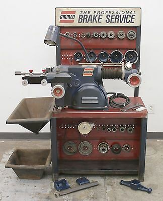 Used Ammco 4000B Disc and Drum Brake Lathe w/ Stand & Adapters #17