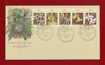 1994 Christmas Island Orchids Set SG 392/6 FDC