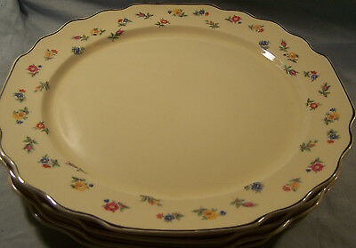 """4 WS George Lido Canarytone Multicolored Floral Dinner Plates 10 1/2"""""""