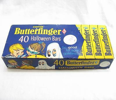 Vintage Curtiss Butterfinger 40 Halloween Candy Bars Empty Box Only 1960 2 Cent