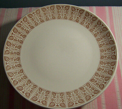 6 Royal China Chantilly Sandlewood Dinner Plates 10 1/8""