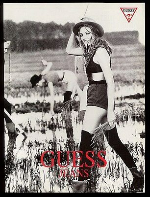 1994 Ellen Von Unwerth photo Guess Jeans vintage print ad