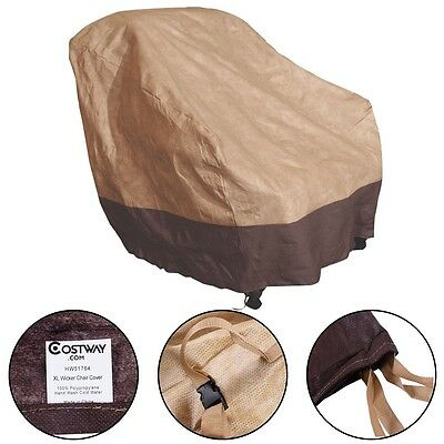 Home Waterproof High Back Patio Rattan Chair Seat Furniture Cover Protection US