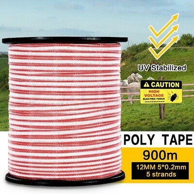 900M Roll Polytape Electric Stainless Steel UV Stabilized Fence Wire Poly Tape