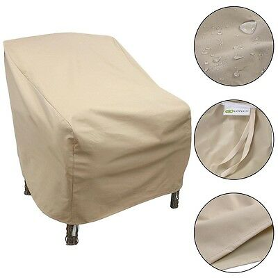 Home Waterproof High Back Patio Single Chair Cover Outdoor Furniture Protection