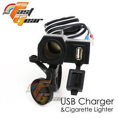 For iPhone iPod Cell phones GPS Power Outlet USB 2.1A Fit Harley Davidson