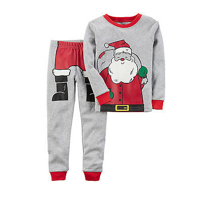 UK Stock Cotton Toddler Kids Baby Boys Xmas Santa Claus Pjs Pyjamas Sleepwear
