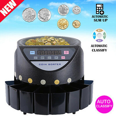 Hot Sale Australian Coin Counter Led Display Automatic Electronic Sorter Machine