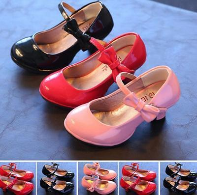 Sweet Kids Princess Toddler Dress Shoes Girls High-heeled patent leather shoes