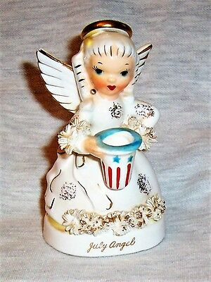 Vintage Napco July Anniversary Angel Numbered  A1367