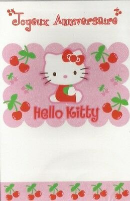 hello kitty joyeux anniversaire cerise carte - Hello Kitty Anniversaire