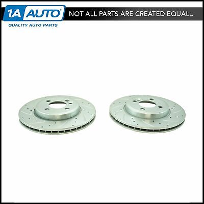 Nakamoto Performance Drilled /& Slotted Front Zinc Coated Disc Brake Rotor Pair