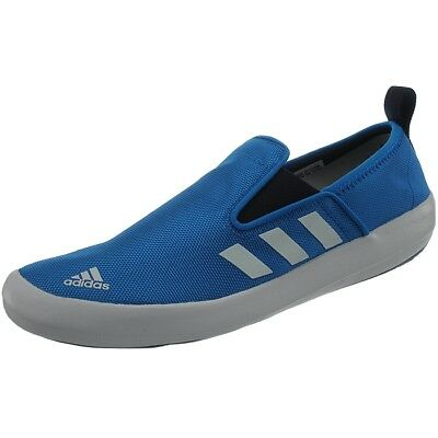 Adidas Boat Slip-On DLX water sport shoes unisex white/blue sailing shoes NEW