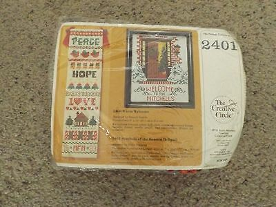 "The Creative Circle #2401 ""Symbols of the season Bellpull"" cross stich kit (NIP)"